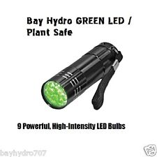 Bay Hydro Plant Safe Super Bright Green Led Torch FlashLight Will Not Wake Plant