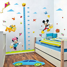 Mickey Minnie Mouse Height Chart Kids Wall Stickers Nursery Room Decor Decal New
