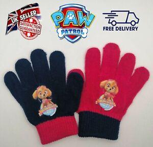Official Paw Patrol Magic Gloves Kids Girls Children Winter Warm Stretch