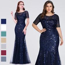 Ever-Pretty Fishtail Bodycon Dresses Long Mesh Short Sleeve Evening Dress 07707