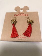 Nwt Disney Mickey Mouse Tassel Earrings by Junk Food for Target Limited Edition