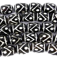5X Semipreciosa Negro Viking Ágata Grande Abalorios 19x14mm Fabricación Joyería