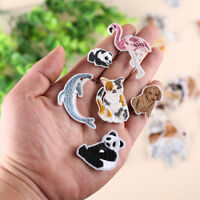Embroidery Animal Patch Iron On Sew On Badge Clothes Fabric Applique Craft AU