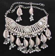 Choker Bib Shell Statement Necklace Gypsy Boho Hippie Festival Fashion Jewelry