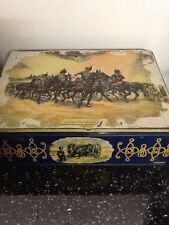Vintage Huntley & Palmer party biscuit tin in beautiful colous, Kings Royal.