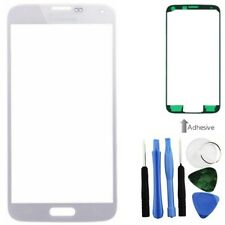 White Front Screen Glass Lens Repair + Tools Adhesive Fr Samsung Galaxy S5 i9600