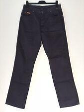 Mens Wrangler 100% Cotton Regular Jeans W34(32) L34 Black