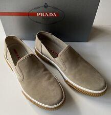 NIB PRADA Men's Sand Suede Slip-on Sneakers 8.5 US 4D3168