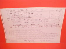 1958 PLYMOUTH BELVEDERE CONVERTIBLE FURY COUPE SAVOY PLAZA FRAME DIMENSION CHART