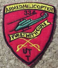 Ecusson/patch - Vietnam US army - 334th armed helicopter compagny UTT