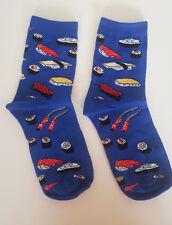 Japanese SUSHI socks Blue Hipster food Size 4-7 UK 36-40 EUR Fashion Teppanyaki