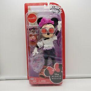 JAKKS Adorable MINNIE MOUSE 2019 Disney FLORAL FESTIVAL Poseable Doll - NEW