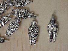 Lot of 10 Venus Willendorf Charm Pendant fertility goddess. USA seller fast ship