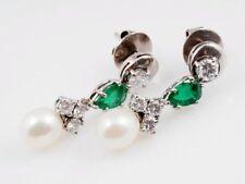 Antstecknadeln Ohrschmuck mit Smaragd für Damen