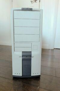 Beige PC Case - ATX Retro Full Tower Vintage Computer Case