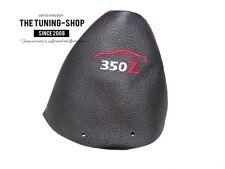 "Para Nissan 350Z Z33 2002-09 Gear stick Polaina De Cuero Rojo"" 350 Z ""bordado"