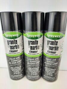 Sprayway Granite & Marble Cleaner 3 Pack 19 oz. Ea.