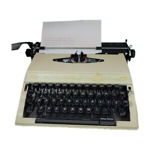 Vintage Sears Achiever Portable Typewriter Built by Brother in Hard Plastic Case