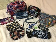 VERA BRADLEY Large Lot of 11 Pouches Wallets Crossbody Handbags Key Chain BLUE