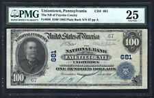 PA 1902 $100  LOW S/N:67 ♚♚UNIONTOWN, PENNSYLVANIA♚♚  PMG VF 25   RARE NOTE!!!