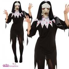 Bristol Novelty Ac373 Zombie Nun Habit Plus Mask UK Size 10 - 14