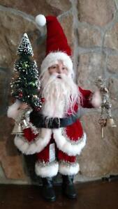 "NWT RAZ 17"" SANTA with Magic Key & Decorated Tree Christmas FIGURE Prop Display"