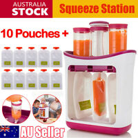Baby Feeding Food Squeeze Station Fruit Infant Juice Maker Dispenser Storage Bag
