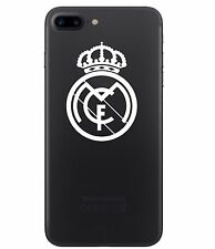 2 (PAIR) Real Madrid Vinyl Decal Smart Phone White Chrome Sticker Soccer Futbol