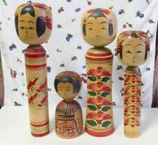 Japanese Old Sosaku Kokeshi Doll 4 Bodies Sato Oonuma Ogura Kawaii Made in Japan