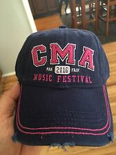 CMA 2016 Fan Music Festival Hat Nashville Tennessee Blue Pink Country Music