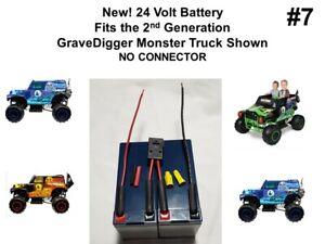 24v Grave Digger Battery ECON VER. #7 for the Power Wheels 2nd Gen. GRAVE DIGGER