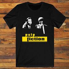 Pulp Fiction Movie John Travolta Men's Black T-Shirt S-3XL
