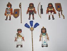 Playmobil Personnage Lot Reine d'Egypte + Serviteurs + 3 Gardes & Accessoires