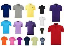 Polo Ralph Lauren Men's Polo Shirt Short Sleeve Top Custom Fit New T-shirt Sale!