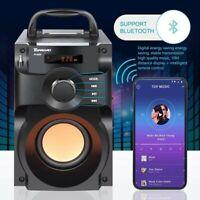 Wireless Remote Control Bluetooth Speaker Super Bass Stereo Subwoofer FM Radio
