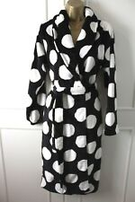Next Spotted Super Soft Fleece Dressing Night Gown Robe Small Long 8-10 UK