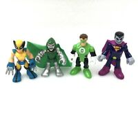 4 Fisher Price Imaginext DC Super Friends Action Figures Wolverine Green Goblin