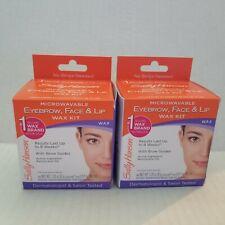 Sally Hansen Eyebrow, Face, Lip Microwaveable Wax Kit Exp (Pack Of 2 )
