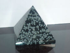 cristalloterapia PIRAMIDE OSSIDIANA FIOCCO DI NEVE cristallo FENG SHUI arte bio