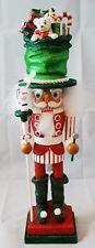 "Christmas Toy Soldier Nutcracker Green Red White 18"" Wood Kurt Adler Hollywood"