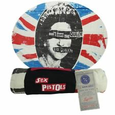 SEX PISTOLS QUEEN PRINT COTTON VELOUR BEACH TOWEL NWT GREAT GIFT + CARRY WRAP