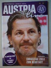 Programm Österreich 2014/15 Austria Wien - SV Grödig