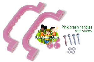 Pink HAND GRIPS GRAB HANDLES (Set of 2) Climbing Frame Playhouse treehouse
