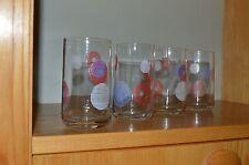 4 Trink Gläser Gläser SET Punkte Karo Bar Haushalt Küche 70er True Vintage 70s