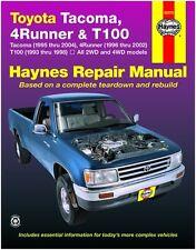 HAYNES REPAIR MANUAL 92076 TOYOTA TACOMA '95-'04, 4RUNNER '96-'02, T100 '93-'98