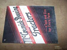 Vtg 1930's McCormick-Deering Tractors Brochure Booklet