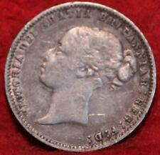 1878 Great Britain 6 Pence Silver Foreign Coin