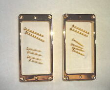 Arched LP METAL HUMBUCKER PICKUP RINGS SURROUNDS MIGHTY MITE GOLD 4 Les Paul