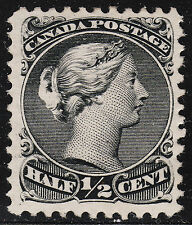 Canada 1/2C Large Queen TRIPLE VARIETY, Scott 21a/iii/iv, VF unused - RARE !!!