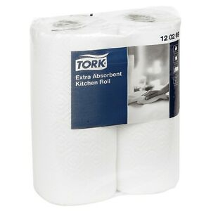 Tork 6 12 Strong Quality White Extra Absorbent Paper Towels Kitchen Rolls 2 Ply
